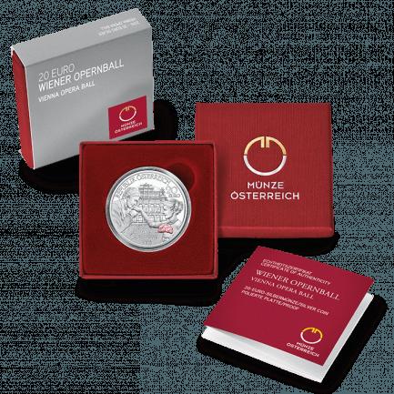 20 Euro Silbermünze Wiener Opernball