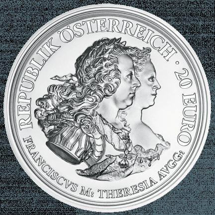 Silbermünze Maria Theresia Gerechtigkeit Und Härte