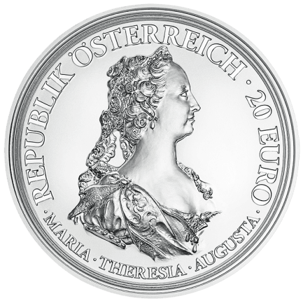 Silbermünze Maria Theresia Tapferkeit Und Entschlossenheit