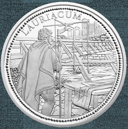 20 Euro Silbermünze Lauriacum Der Münzserie Rom An Der Donau