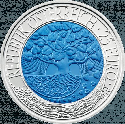 25 Euro Silber Niob Münze 2010 Erneuerbare Energie