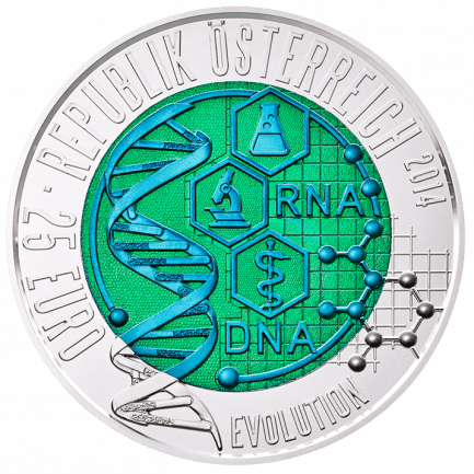 25 Euro Silber Niob Münze Evolution