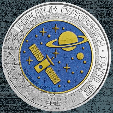 Kosmologie 25 Euro Silber Niob Münze 2015