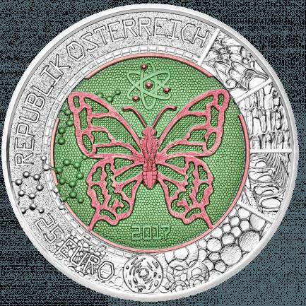 25 Euro Silber Niob Münze Mikrokosmos