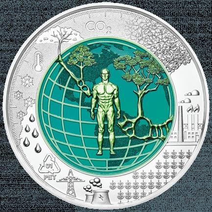 25 Euro Silber Niob Münze 2018 Anthropozän