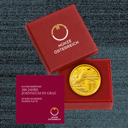 50 Euro Goldmünze 200 Jahre Joanneum In Graz In Gold Au 986