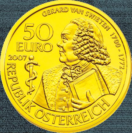 50 Euro Goldmünze Gerard Van Swieten