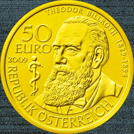 50 Euro Goldmünze Theodor Billroth