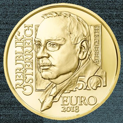 50 Euro Goldmünze Alfred Adler Prägequalität Polierte Platte