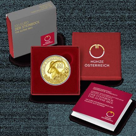 100 Euro Goldmünze Steinbock Der Extremkletterer