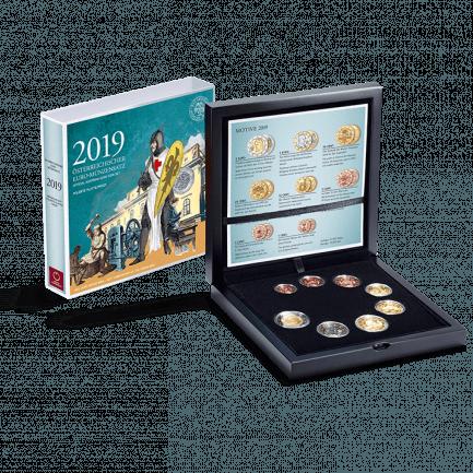 Offizieller Euro Münzensatz 2019 Polierte Platte