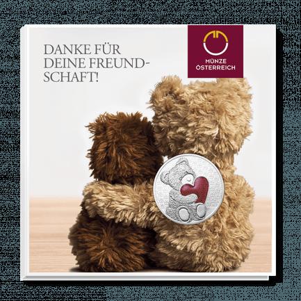 537a47a672a0d7 Teddybär-Medaille mit Augen aus Zirkonia