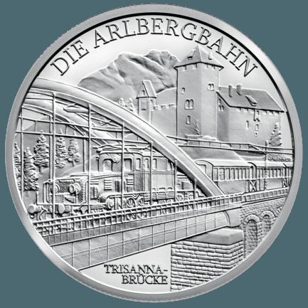 Silbermünze Die Elektrifizierung Der Bahn