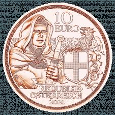10-Euro Kupfermünze Brüderlichkeit Avers