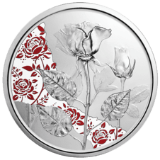 10 Euro Silbermünze Die Rose