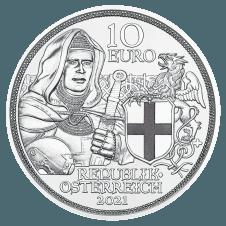 2021 10-Euro Silbermünze Brüderlichkeit Polierte Platte Avers