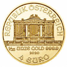 Vienna Philharmonic Gold 1/25 ounce
