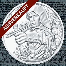 silver bullion coin Robin Hood