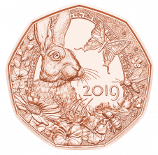 5 Euro Kupfermünze Frühlingserwachen