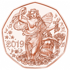New years coin 2019 copper
