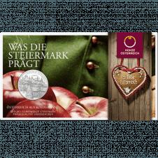 10-euro coin 2012 Steiermark Blister