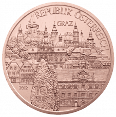 10-euro coin 2012 Steiermark copper avers