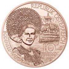 10-euro coin 2013 Vorarlberg copper avers