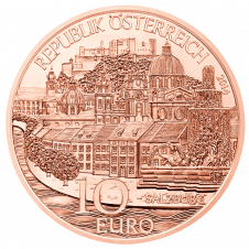 10-euro coin 2014 Salzburg copper avers