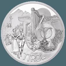10-euro coin 2014 Tirol avers