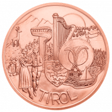 10-euro coin 2014 Tirol copper avers