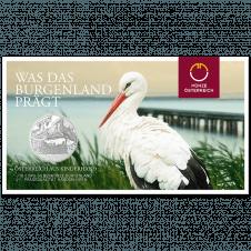 10-euro coin 2015 Burgenland Blister