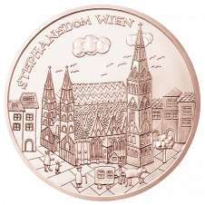 10-euro coin 2015 Wien copper revers