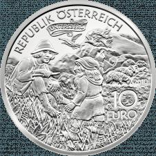 10-euro coin 2010 Untersberg avers