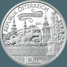 10-euro coin 2011 Lindwurm avers