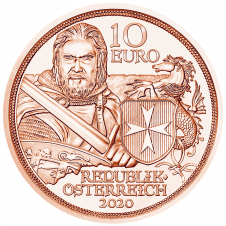10 Euro copper coin fortitude