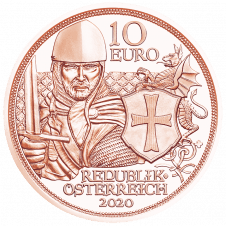 10 Euro copper coin Courage