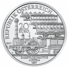 20-euro coin Nordbahn avers