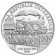20-euro coin 2008 Westbahn avers
