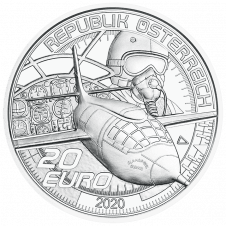 20 Euro silver coin faster than sound