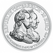 Maria Theresa silver coin, prudence and reform