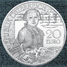20-euro coin 2015 Mozart avers