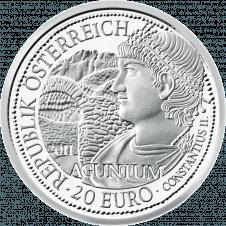 20-euro coin 2011 Aguntum avers