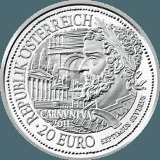 20-euro coin 2011 Carnuntum avers