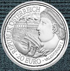 20-euro coin 2012 Brigantium avers