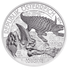 20-euro coin 2014 cretaceous period avers