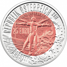 25-euro coin 2011 robotics averse
