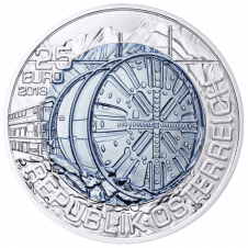 25 euro 2013 Tunnel Construction obverse