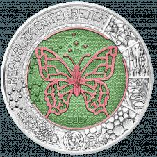 25 Euro silver-niobium coin Microcosm