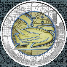 Silver niobium coin smart mobility