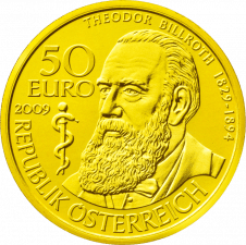 Goldmünze Theodor Billroth